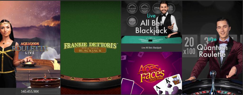 Live casino games Bet 365