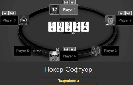 Poker software online casino Bet 365