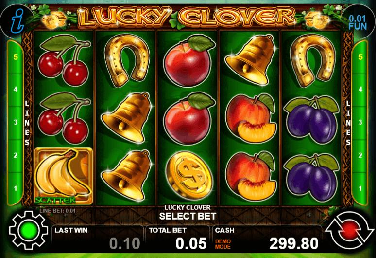 Lucky Clover- онлайн ротативка с плодове