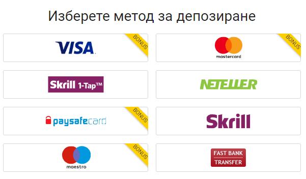 Методи за депозит онлайн казино bwin