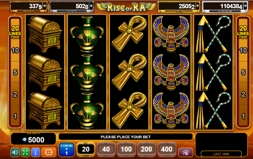 Демо версия на казино игра Rise of Ra