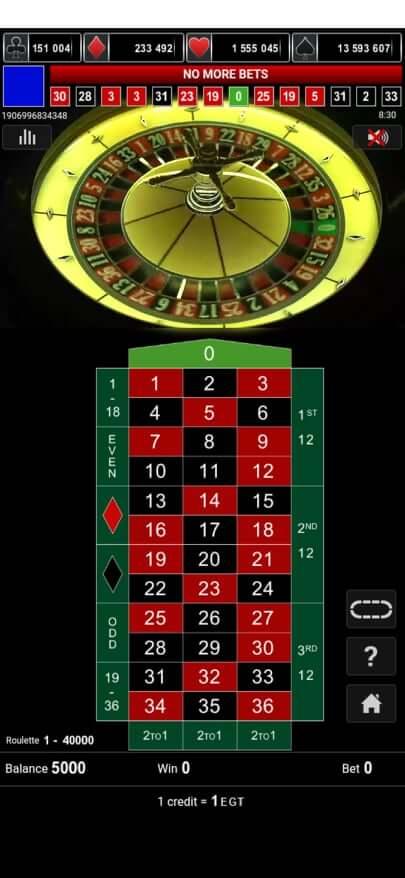 Мобилна рулетка казино Палмс Бет