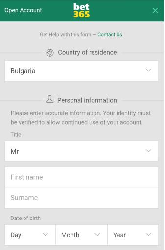 Бет365 регистрация от телефона