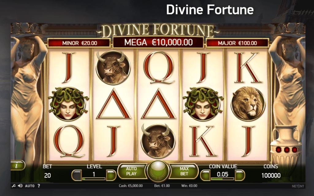 NetEnt казино игри - Divine Fortune