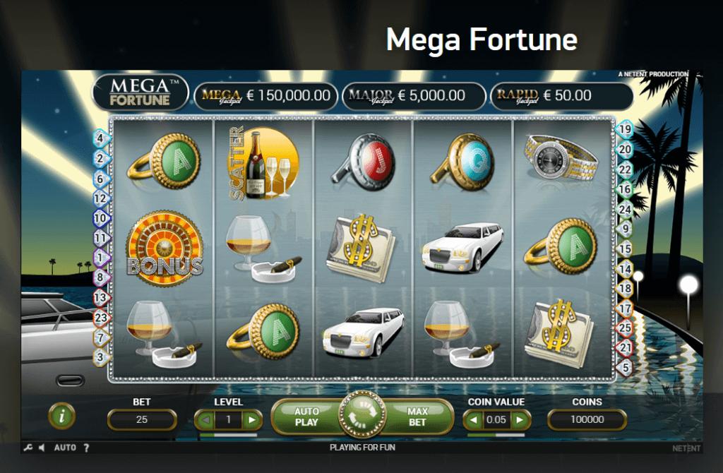Netent казино игри - Mega fortune