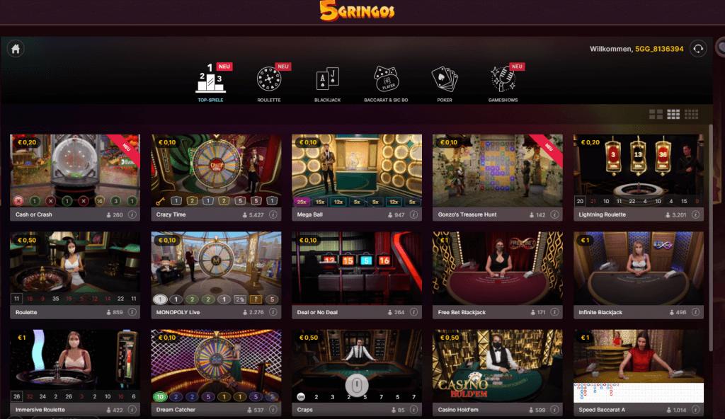 5Gringos Live Casino