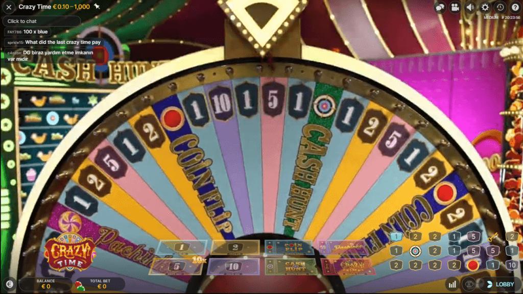 Crazy Time Live Casino Spiel