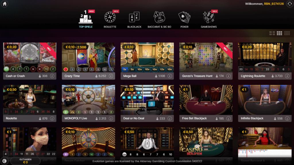 Rabona Live Casino