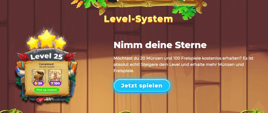 Wazamba Level-System